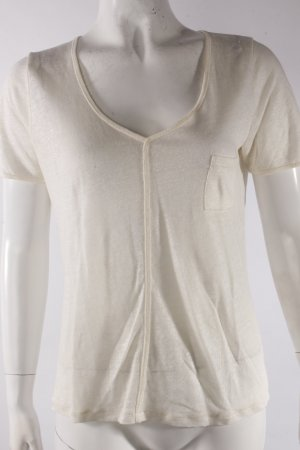 Massimo Dutti T-Shirt cremeweiß