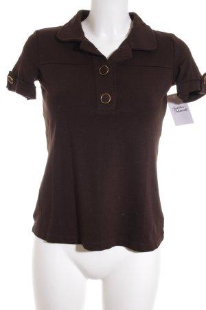 Massimo Dutti T-Shirt dunkelbraun Casual-Look