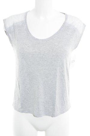 Massimo Dutti T-Shirt hellgrau meliert Casual-Look