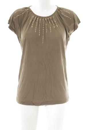 Massimo Dutti T-Shirt ocker Casual-Look