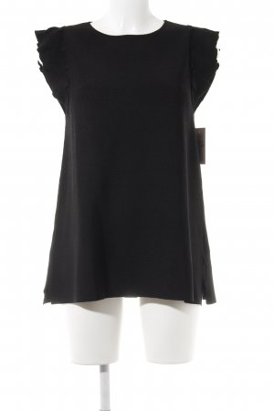 Massimo Dutti T-Shirt schwarz Elegant
