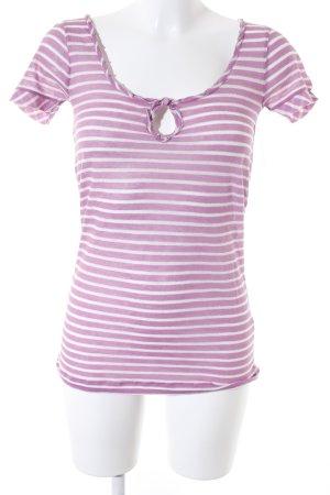 Massimo Dutti T-Shirt Streifenmuster Glitzer-Optik