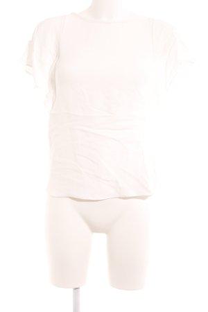 Massimo Dutti T-Shirt weiß Romantik-Look