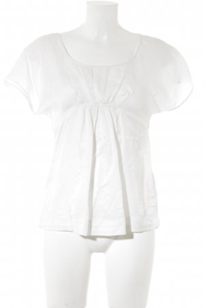 Massimo Dutti T-Shirt weiß-wollweiß Casual-Look
