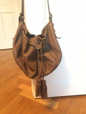 Massimo Dutti Tasche Bag Tassel Bommel Beuteltasche Leder