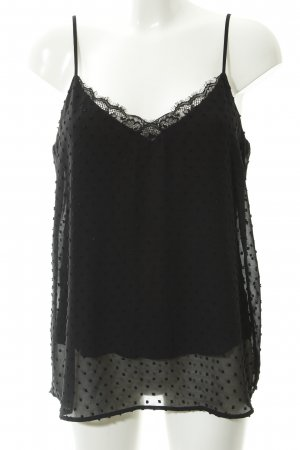 Massimo Dutti Strappy Top black spot pattern casual look