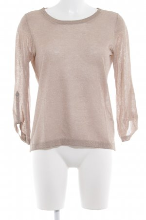 Massimo Dutti Transparenz-Bluse camel-goldfarben Casual-Look
