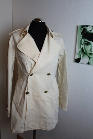 Massimo Dutti Trench Coat natural white-gold-colored
