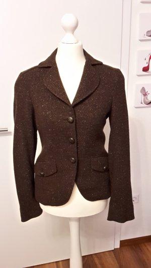 Massimo Dutti Tweed-Blazer Gr. 34 dunkelbraun