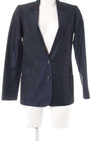 Massimo Dutti Tweed blazer donkerblauw-leigrijs Webpatroon zakelijke stijl