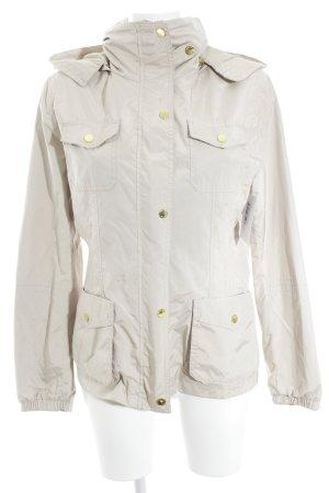 Massimo Dutti Übergangsjacke creme-beige klassischer Stil