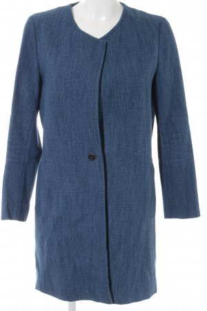 Massimo Dutti Between-Seasons-Coat blue-dark blue flecked elegant