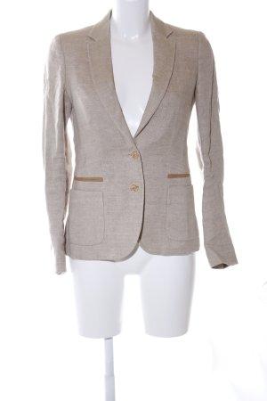 Massimo Dutti Unisex Blazer natural white-brown flecked business style