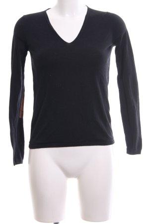Massimo Dutti V-Neck Sweater black casual look