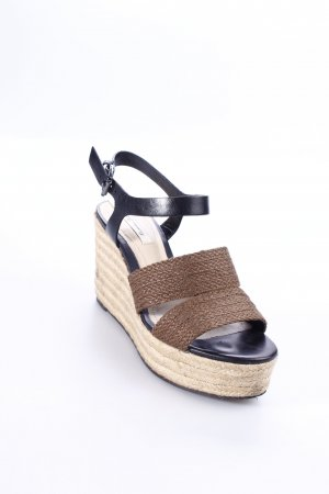 Massimo Dutti Wedges Sandaletten braun Street-Fashion-Look