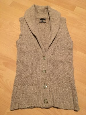 Massimo Dutti Knitted Vest beige