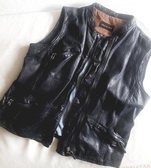 Massimo Dutti Leather Vest black