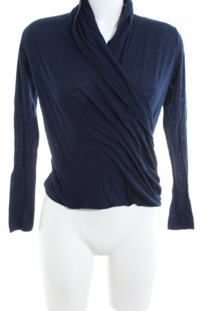 Massimo Dutti Wraparound Shirt blue casual look