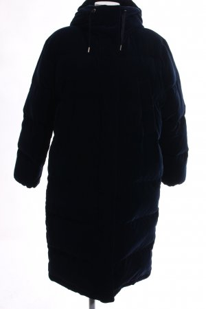 Massimo Dutti Wintermantel dunkelblau extravaganter Stil