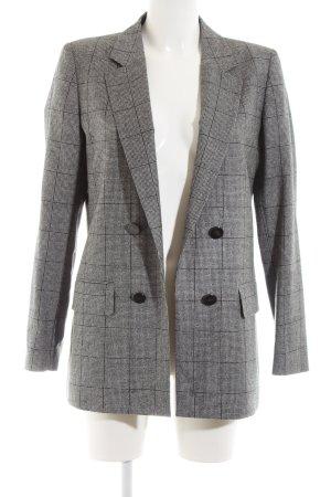 Massimo Dutti Wool Blazer white-black check pattern business style