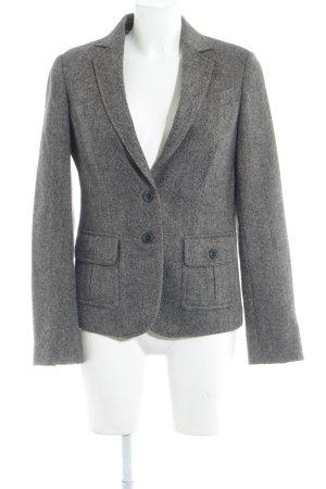 Massimo Dutti Blazer en laine gris brun-crème moucheté style classique