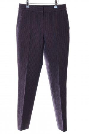 Massimo Dutti Woolen Trousers blue allover print business style