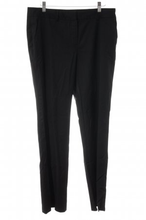 Massimo Dutti Woolen Trousers black business style