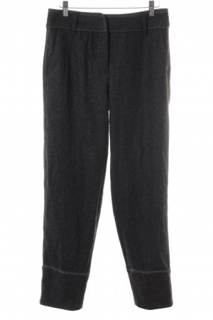 Massimo Dutti Woolen Trousers black-dark grey business style