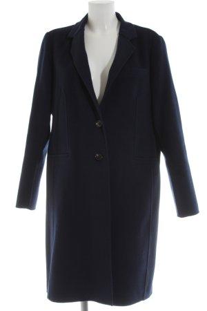 Massimo Dutti Cappotto in lana blu stile casual