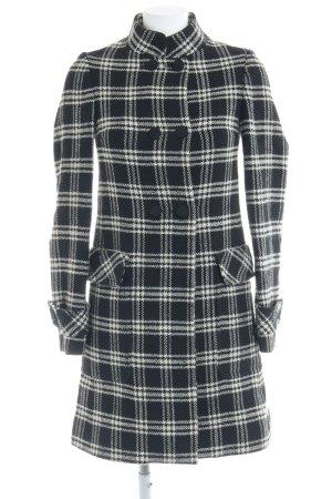 Massimo Dutti Abrigo de lana negro-blanco puro estampado príncipe de Gales