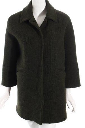 Massimo Dutti Wollmantel waldgrün Street-Fashion-Look