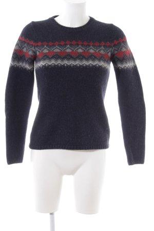 Massimo Dutti Jersey de lana estampado gráfico estilo sencillo