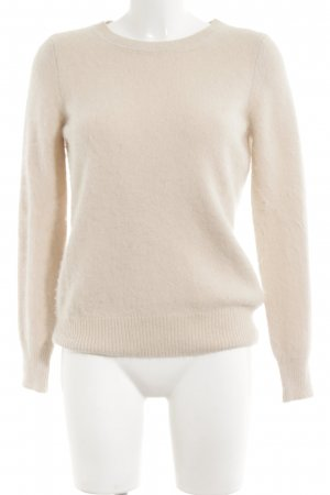Massimo Dutti Wollpullover wollweiß Casual-Look