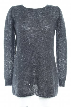 Massimo Dutti Wollpullover anthrazit-schwarz Casual-Look