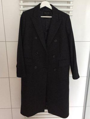 Massimo Dutti Zweireihiger Mantel dunkelgrau