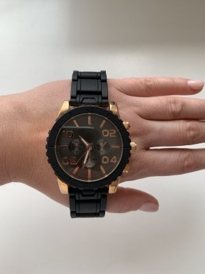 Aldo Watch With Metal Strap gold-colored-black