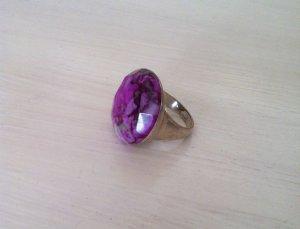 Massiver 925-er Silberring mit tollem Stein