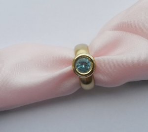 Gold Ring gold-colored-azure real gold