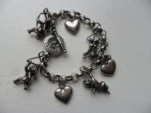 Massives  925 Silber Bettelarmband von Giovanni Raspini, Engel/Putten/Herzen, Allerliebst anzuschauen