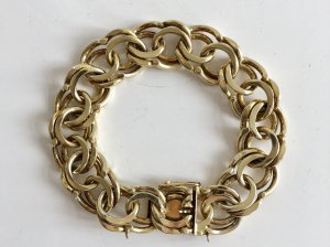 Vintage Braccialetto in argento oro