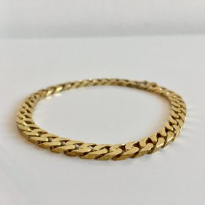Massives Sterling Vintage Armband Silber 925 Gliederarmband Panzerarmband gold