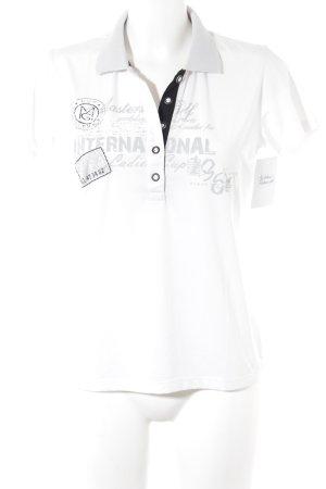 Masters Polo-Shirt Schriftzug gedruckt sportlicher Stil