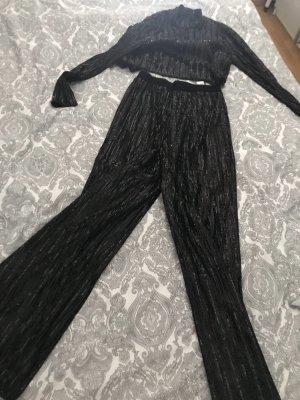 Zara Twin set in jersey nero