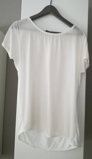 Materialmix Shirt mit Rundhals