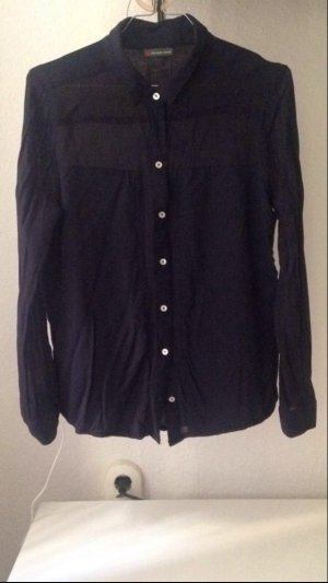 Materialmix Street One Bluse, Navy, Gr. 38