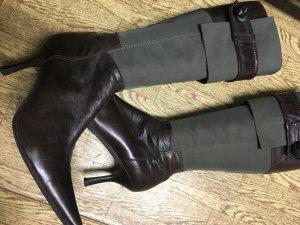 Baldinini Botas con tacón marrón oscuro-ocre Cuero