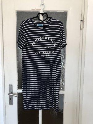 Twintip Vestido estilo camisa azul oscuro-blanco