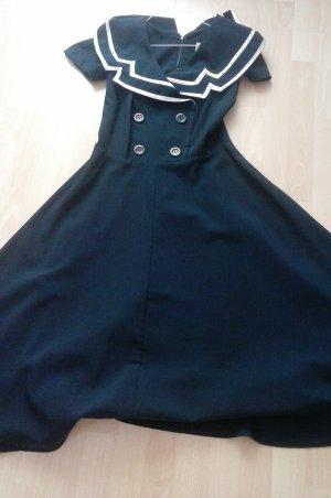 Vestido bustier azul oscuro