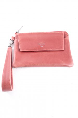 Matt & Nat Clutch dunkelrot Leder-Optik