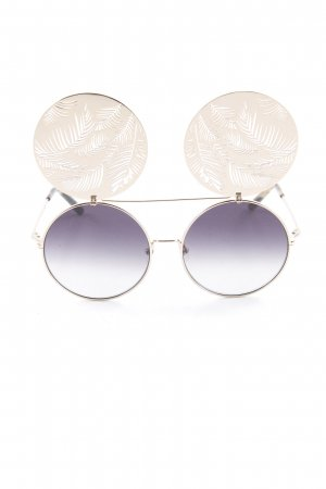 Matthew williamson Brille goldfarben-grau florales Muster Beach-Look